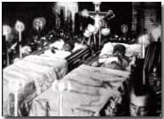 The body of Franz Ferdinand lying in state